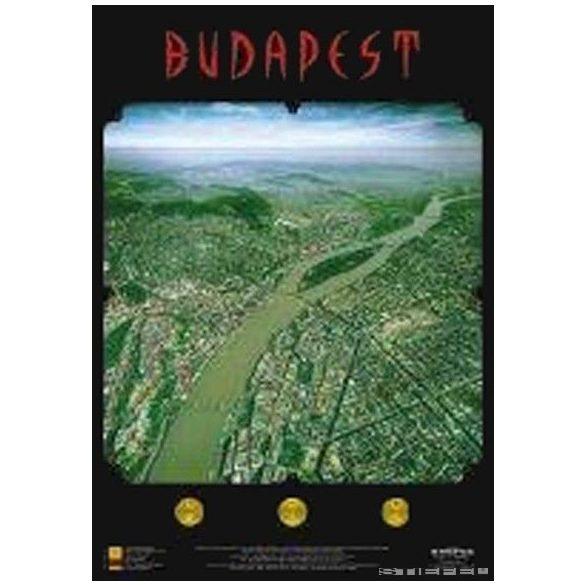 Budapest panoráma térképe, falitérkép