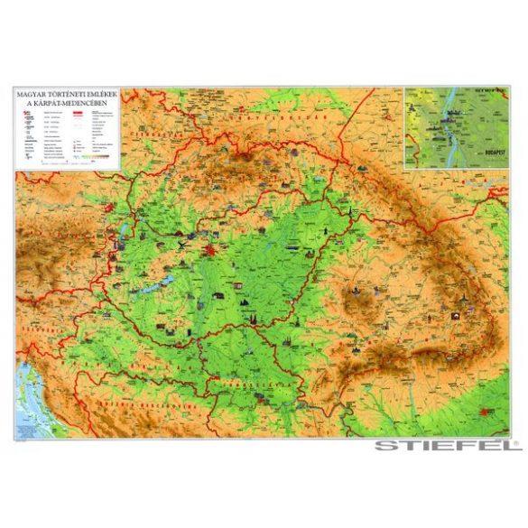 Magyar történeti emlékek a Kárpát-medencében falitérkép