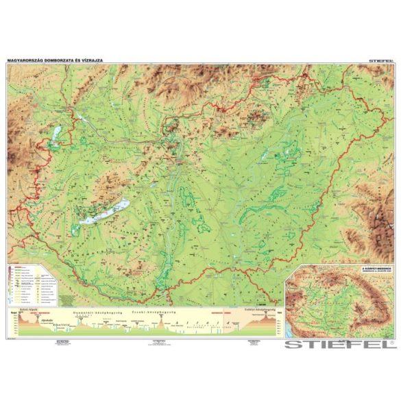 Magyarország domborzata falitérkép