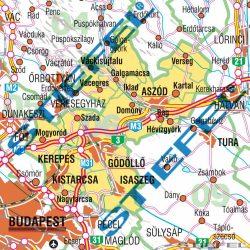 Magyarországi megyék választási falitérkép egyéni választókerületekként