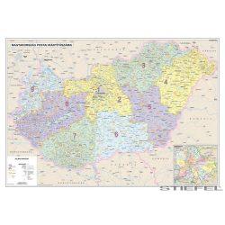 Magyarország postai irányítószámai falitérképe, falitérkép