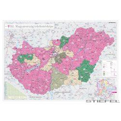 Magyarország telefon térképe, falitérkép
