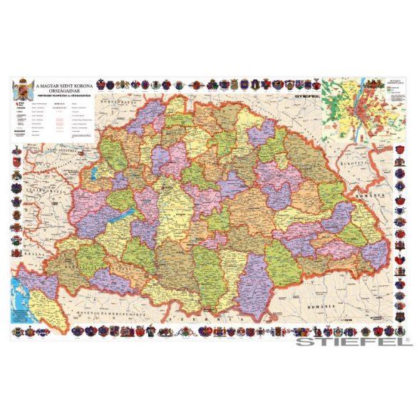 A Magyar Szent Korona országai falitérkép