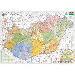 Magyarország közigazgatási térképe, falitérkép