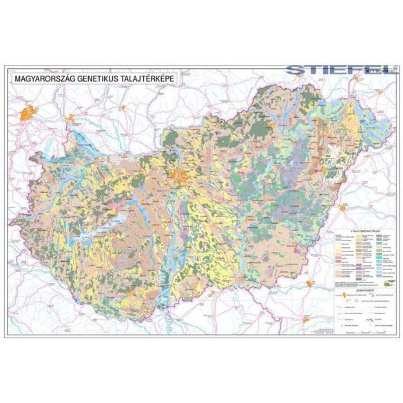 Magyarország talajtani térképe, falitérkép