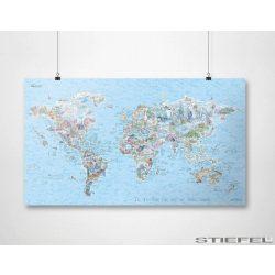 Búvár térkép keretezett, tűzhető