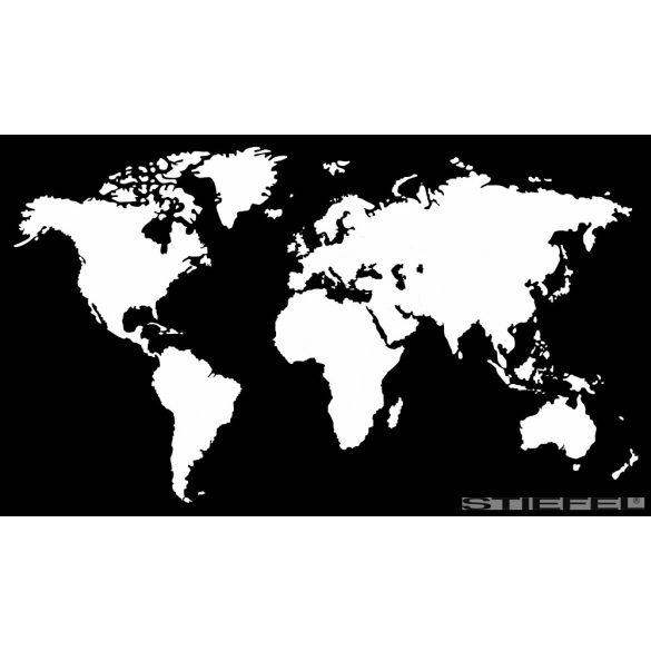 Fekete színű fali világtérképe, falitérkép