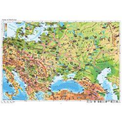 Közép- és Kelet-Európa domborzata, falitérkép