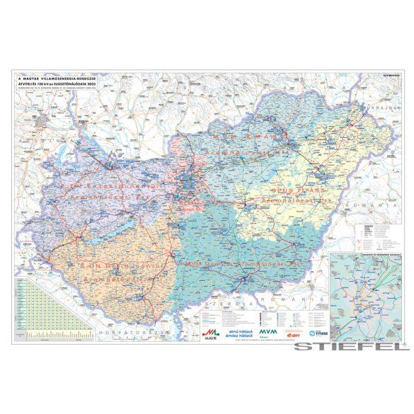 Magyarország villamoshálózati falitérkép