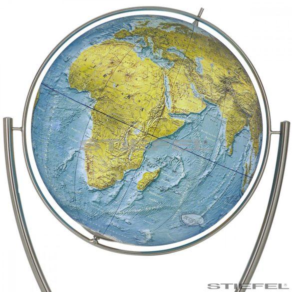 COLUMBUS DUO RAMA világítós, álló, polietilén földgömb, rozsdamentes acél talppal és meridiánnal Ø 100  cm