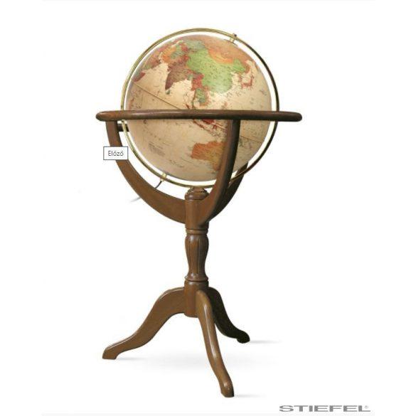 Földgömb Janine világítós álló talpas antik földgömb Ø 50  cm