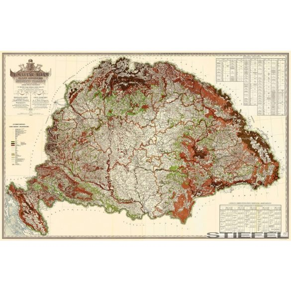 Magyarország erdészeti falitérkép