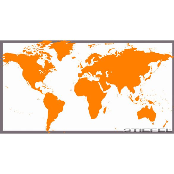 Narancs színű világtérképe, falitérkép