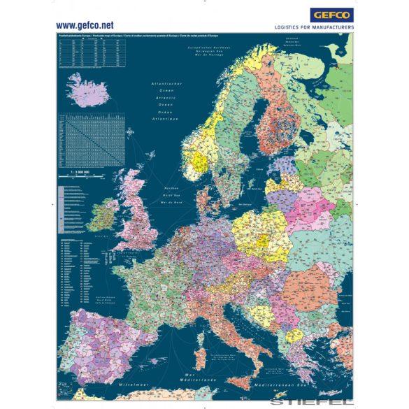 Európa egyedi falitérképek