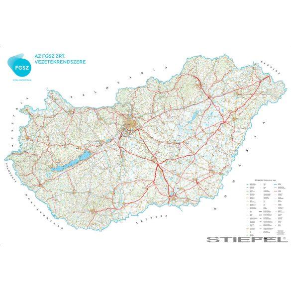 FGSZ Zrt. földgáz hálózati térkép